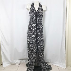 bebe Geo Bodycon halter dress size Small